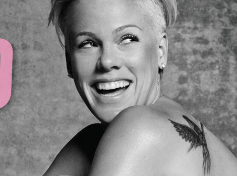 P!nk Poses Naked for PETA on 90-Foot Billboard -- See the Sexy Pic!