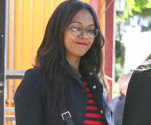 Zoe Saldana Flaunts Her Post Baby Bod While Shopping For Her Twins