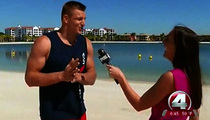 Rob Gronkowski -- Hits On Hot Reporter ... During Live Interview