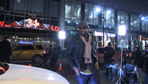 LeBron James -- Bangs Out Car Commercial ... In Middle of NYC Street
