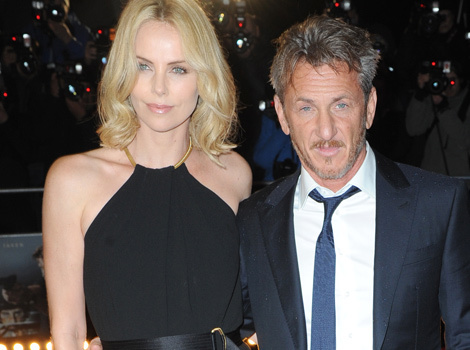 "Charlize Theron Hits Red Carpet With Sean Penn at ""The Gunman"" Premiere"