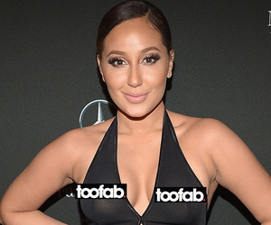 Adrienne Bailon Wears Sheer Dress During NYFW, Shows Off Nipple Piercings!