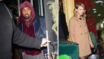 Kanye West & Taylor Swift -- BFFs Do Dinner ... Before the Duet