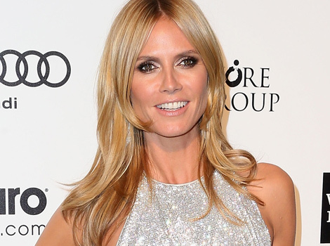 Heidi Klum Shows Serious Skin (And Side Booty!) at Oscars Viewing Party
