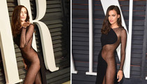 Irina Shayk -- Half-Naked & Rebounding ... At Post-Oscars Bash
