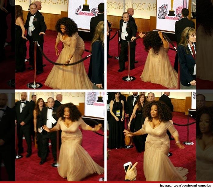 Oprah Winfrey Watch Me Do The Limbo At Oscars Photo