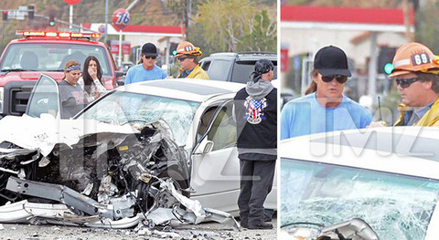 Bruce Jenner was involved in a horrific car accident on Pacific Coast Highway in Malibu leaving one person dead. Law enforcement sources tell us ... there were 4 vehicles involved in the crash.  We're told there were 8 people involved and all sustained some sort of injury ... but one person died at the scene.