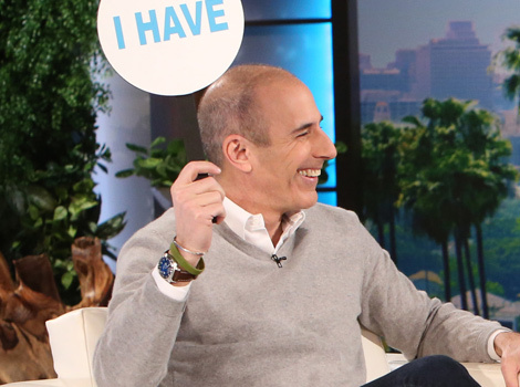 """Matt Lauer Plays """"Never Have I Ever"""" With Ellen -- And His Answers Will…"""