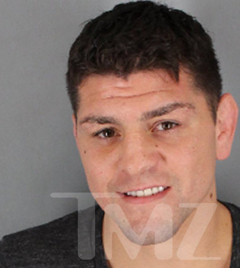 "UFC superstar Nick Diaz was arrested for DUI in California -- and cops say to make matters worse, he attempted to ""destroy evidence"" by trying to make himself puke."