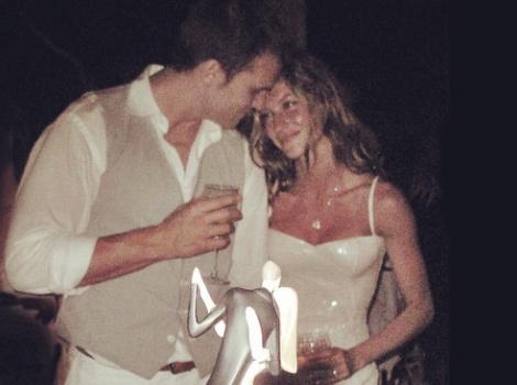 Gisele Bundchen Celebrates Anniversary With Throwback Wedding Pic!