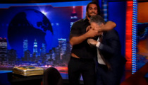 WWE's Seth Rollins -- HEADLOCKS JON STEWART ... On 'Daily Show' Attack!