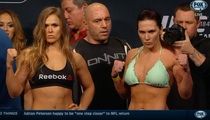 Ronda Rousey -- Half-Naked Weigh-In ... For UFC 184
