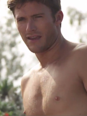 "Shirtless Scott Eastwood Searches for ""Perfect Companion"" In ""Bachelor"" Spoof"