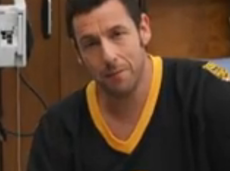 "Adam Sandler & Bob Barker Recreate ""Happy Gilmore"" Fight Scene ... In A Hospital!"