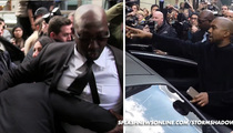 Kim Kardashian & Kanye West -- Moved or Be Moved! Bodyguard Rams Crowd (VIDEO)