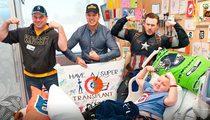 Chris Evans -- Captain America Assembled ... For Super Bowl Promise