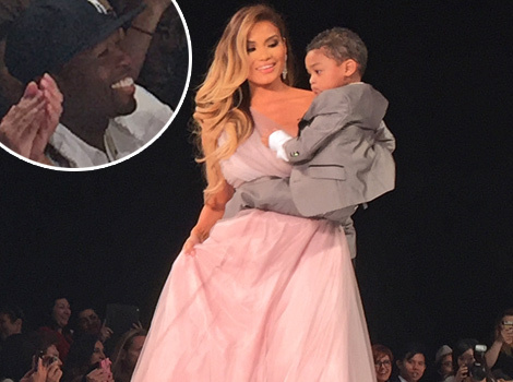 50 Cent Can't Contain His Happiness at Son Sire's Runway Debut