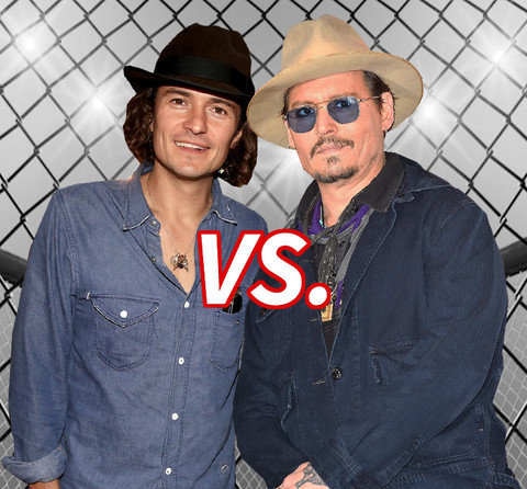 argh! Who's the best commander at sea? Orlando Bloom (38) vs. Johnny Depp (51)