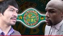 Mayweather/Pacquiao Fight -- New WBC Belt Unveiled ... $1 Million Swag!!