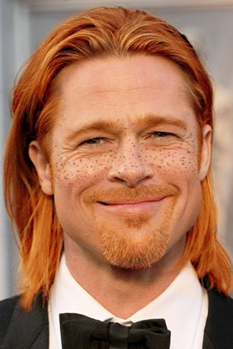 Stars turned ginger and redhead for St Patricks Day.