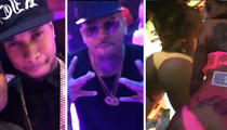 Chris Brown -- Strip Club Sesh After Daddy-Daughter Time (VIDEO)