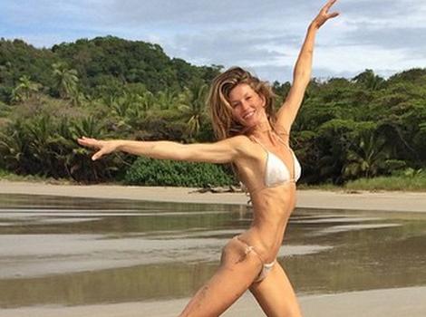 Gisele Bundchen Shows Off Insane Beach Bod in String Bikini