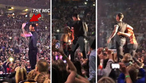 Adam Levine -- Unlucky Strike ... Nails Fan In The Head With Mic (NEW VIDEO)