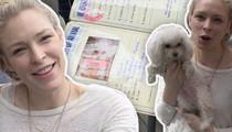 Guess Model Cynthia Kirchner -- My Traveling Dog Balls So Hard ... She Has a Passport (TMZ TV)