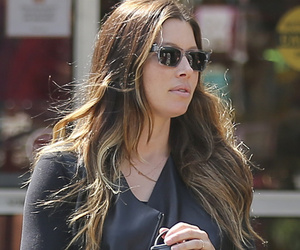Jessica Biel Dresses Up Her Growing Bump In Leather & Plaid