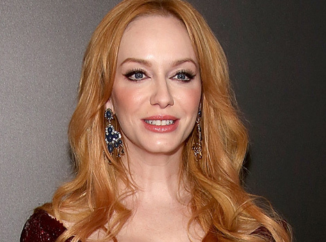 "Christina Hendricks Debuts Strawberry Blonde 'Do At ""Mad Men"" Premiere"