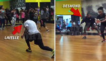 Ex-SB Champ Desmond Bishop -- Dippin' It Low ... With Super Hot Fitness Model