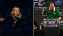 UFC 189 Presser -- Drunk Irish Guy Takes Mic ... Trash Talks Jose Aldo