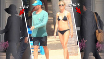 Jennifer Lawrence & Chris Martin -- Fly Together After Gwyneth Vacay (TMZ TV)