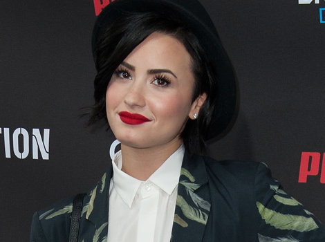 "Demi Lovato Covers Up Her ""Vagina Tattoo"" With a Giant Rose"