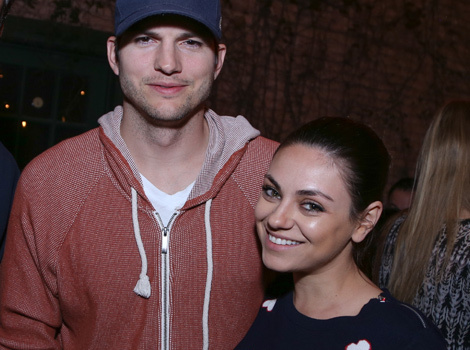 Ashton Kutcher & Mila Kunis Share Funny Selfies From Dodgers' Opening Day