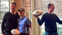 Matt Ryan -- Dominates Golf Tourney ... Wins Football Signed By Himself
