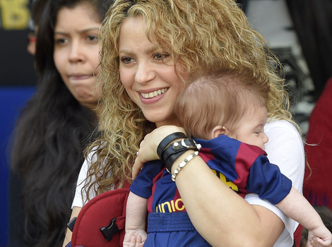 Shakira Brings Sons Milan and Sasha to Cheer on Boyfriend Gerard Pique