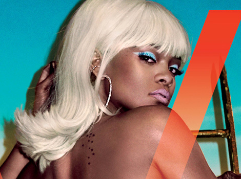"Rihanna Goes Topless and Flashes Booty in V Magazine, Says She Doesn't ""Give a D*ck""…"