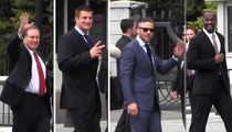 New England Patriots -- Arrive to the White House ... No Brady? No Problem!