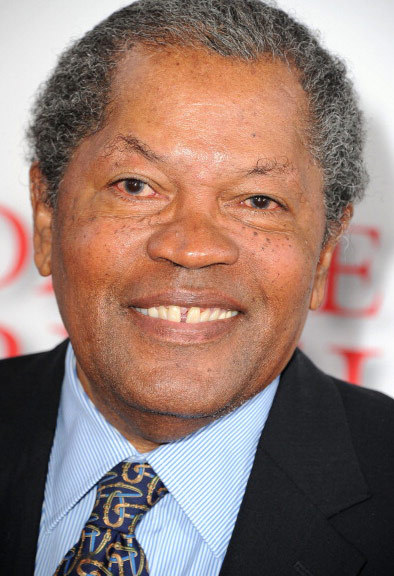 "Clarence Williams III was photographed at a Los Angeles movie premiere looking ""Half Baked."""
