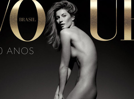 Gisele Bundchen Goes Naked for Vogue Brazil After Retiring From Runway