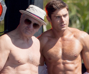 "Zac Efron & Robert De Niro Show Off Ripped Bods on ""Dirty Grandpa"" Set"