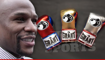 Floyd Mayweather -- Deciding on Fight Gloves ... $2,500-a-Pair