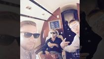 Gronk & Teammates -- BALLIN' OUT ... Takes Private Jet from Derby to Vegas