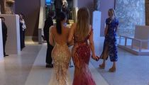 Kim Kardashian & Jennifer Lopez -- Asses Meet at Met Gala (PHOTO)