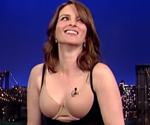 Tina Fey Strips Down To Her Spanx For David Letterman!