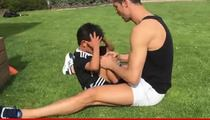 Cristiano Ronaldo -- Adorable Ab Workout ... With 4-Year-Old Son