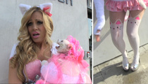 Model Holly Meowy -- Watch Adorable Cat Piss All Over Her!!! (VIDEO)