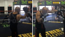 40 Glocc -- Poppin' Mitts With Mayweather's Uncle ... Training For Celeb Fight Night