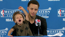 Steph Curry's Daughter -- NBA Not Banning Kids ... After 2-Year-old Hijacks Presser